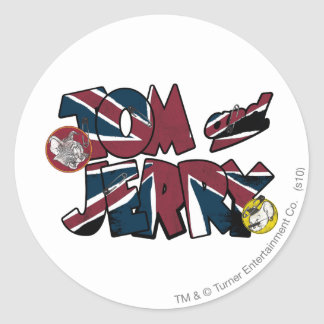 Tom and Jerry UK Overload 2 Classic Round Sticker