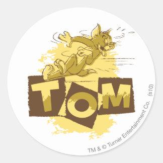 Tom Sliding Stop Classic Round Sticker