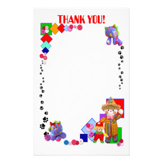 "TOM & TIM Stationary ""Thank you!"" Stationery"