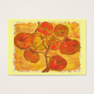 tomato cluster watercolour business card