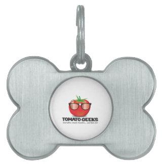 Tomato Geek Stuff Pet Tags