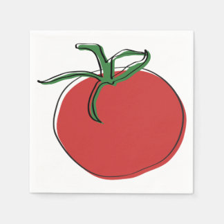Tomato illustration by Neal DePinto Paper Serviettes