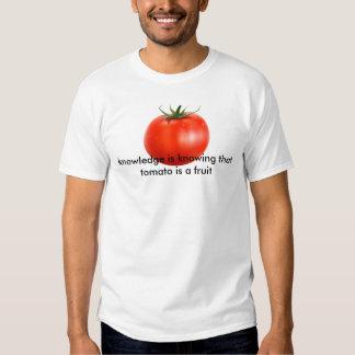 tomato is knowledge tshirts