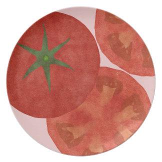 Tomato Melamine Plate