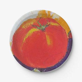 Tomato Paper Plates by Paris Wyatt Llanso
