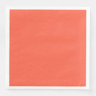 Tomato Red Solid Color Customize It Paper Serviettes