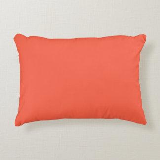 Tomato Red Solid Color Decorative Cushion