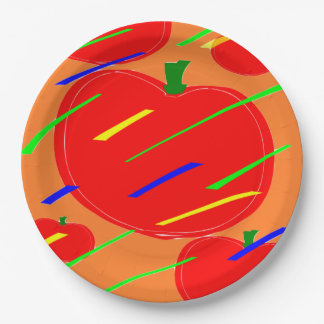 tomatoes paper plate