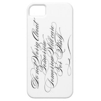 Tomorrow Care For Itself (White) iPhone 5 Cover