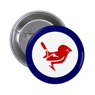 Tomtit roundel | New Zealand Bird 6 Cm Round Badge