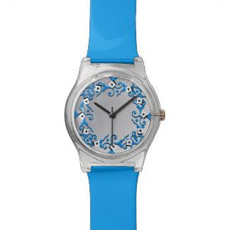 Tonal Elegance Blue Silver Watch