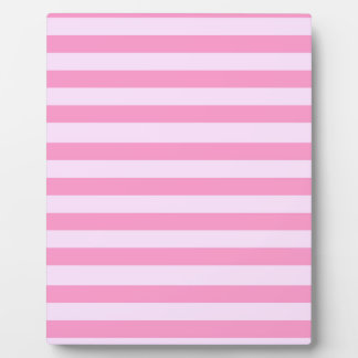 Tone on Tone Pink Stripes Pattern Plaque