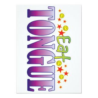 Tongue Eat 14 Cm X 19 Cm Invitation Card