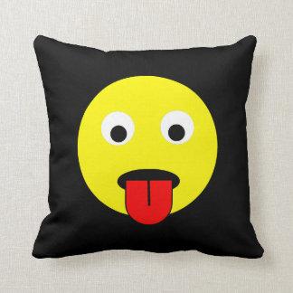 Tongue smiley cushion