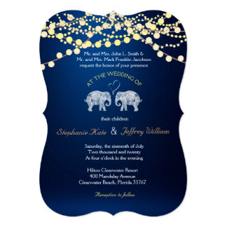 TONS OF LOVE/Elephant Night Lights Wedding Invites