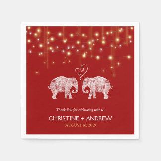 TONS OF LOVE / Elephant String Lights Custom Disposable Serviettes