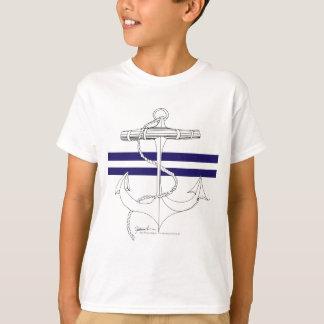Tony Fernandes 2 blue stripe anchor T-Shirt