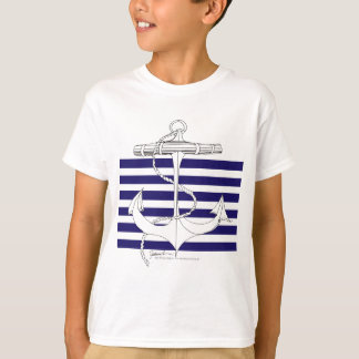Tony Fernandes 6 blue stripe anchor T-Shirt