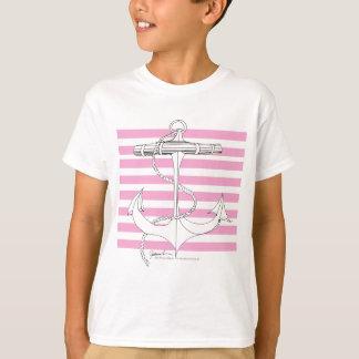 Tony Fernandes 8 pink stripe anchor T-Shirt