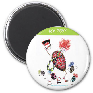 tony fernandes, hen party 6 cm round magnet