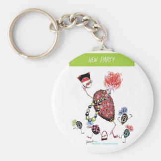 tony fernandes, hen party basic round button key ring