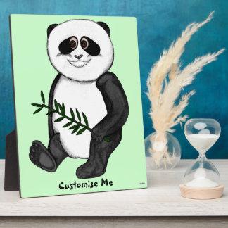Too Cute Panda Bear Plaque