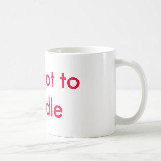 Too hot to handle basic white mug