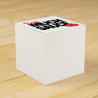 TOO MUCH SAUCE design Favour Box