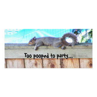 Too pooped to party... rack card template