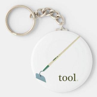 tool basic round button key ring