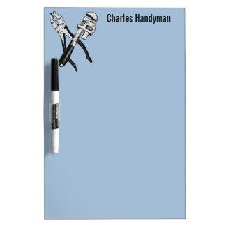 Tools custom monogram & color message board Dry-Erase whiteboard