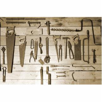 Tools on Wooden Wall Photo Cutouts
