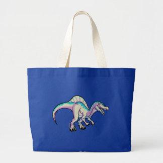 Toon spinosaurus bag, ICE version Large Tote Bag