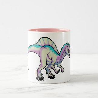 Toon spinosaurus mug. ICE version Two-Tone Coffee Mug