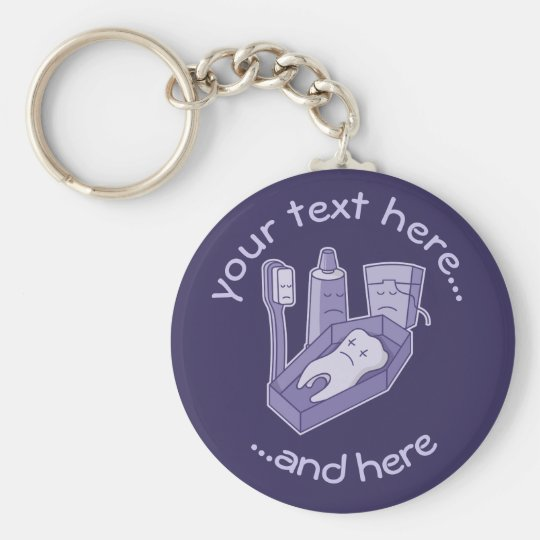 Tooth Funeral Basic Round Button Key Ring