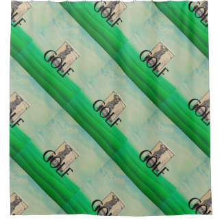 TOP Golf Old School Shower Curtain
