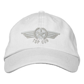 Top Gun Aviation Star Laurels Pilot Wings Baseball Cap