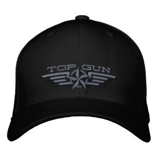 Top Gun Star Badge Pilot Wings Baseball Cap