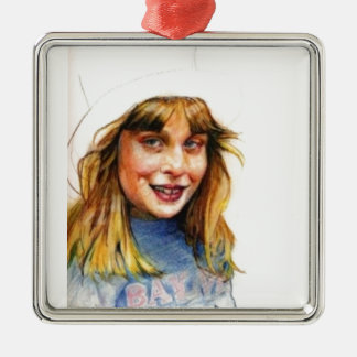 Top-hat girl christmas ornament