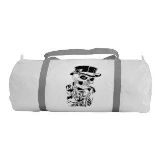 top hat skull gym bag gym duffel bag