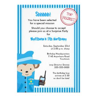 Top Secret Birthday Invitation