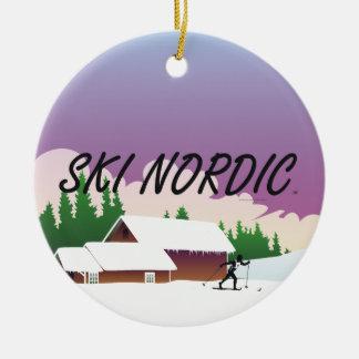 TOP Ski Nordic Christmas Ornament