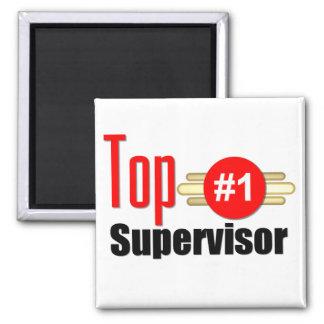 Top Supervisor Square Magnet