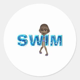 TOP Swim Kids Classic Round Sticker