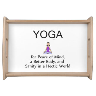 TOP Yoga Slogan Serving Tray