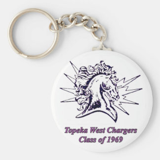 topeka west chargers 1969 keychain