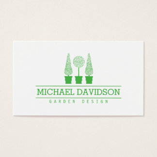 Topiary Trio Landscape Design Green II Business Card