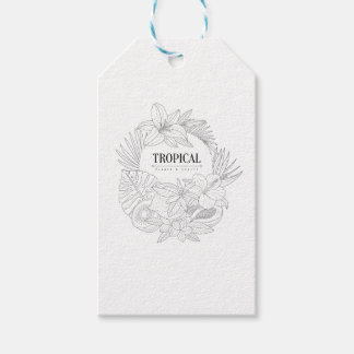 Topical Fruits And Plants Logo Gift Tags