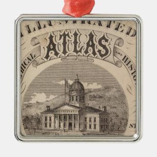 Topographical atlas christmas ornament