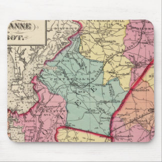 Topographical atlas of Maryland counties Mouse Pad